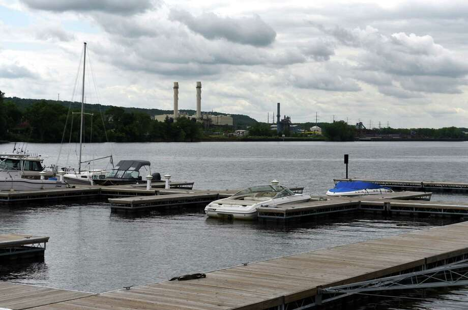 View of the Hudson River at the C. Springer Welding Works and Marina looking towards an area marked for PCB dredging in Rensselaer on Thursday, June 7, 2018, in Albany, N.Y. (Will Waldron/Times Union) Photo: Will Waldron