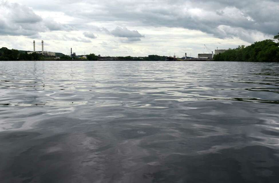 View of the Hudson River looking towards an area marked for PCB dredging in Rensselaer on Thursday, June 7, 2018, in Albany, N.Y. (Will Waldron/Times Union)