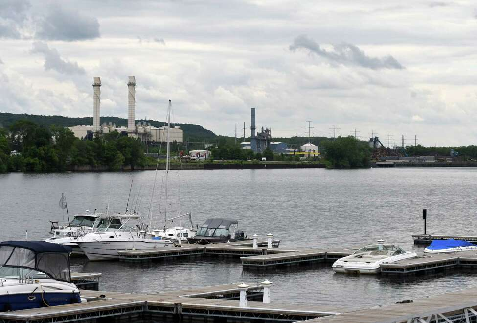 View of the Hudson River at the C. Springer Welding Works and Marina looking towards an area marked for PCB dredging in Rensselaer on Thursday, June 7, 2018, in Albany, N.Y. (Will Waldron/Times Union)