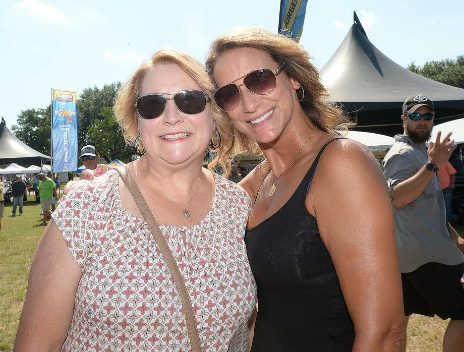 Debbie Scott and Connie Patin were at the opening day of the Bassmaster Elite Series fishing tournament in Orange. The competition continues through Sunday with daily launch times of 6:05 a.m. and weigh-ins beginning at 3 p.m. Photo taken Wednesday, June 6, 2018 Kim Brent/The Enterprise Photo: Kim Brent / The Enterprise / BEN
