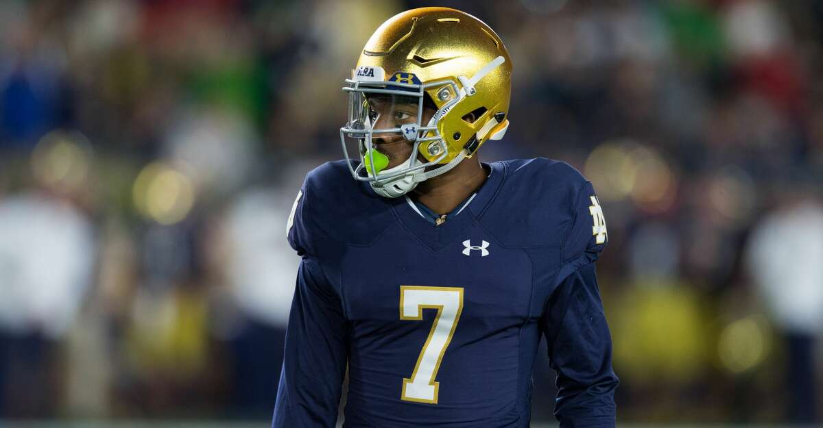 SOUTH BEND, IN - SEPTEMBER 09: Notre Dame Fighting Irish cornerback Nick Watkins (7) on the field during the college football game between the Notre Dame Fighting Irish and Georgia Bulldogs on September 9, 2017, at Notre Dame Stadium in South Bend, IN. (Photo by Zach Bolinger/Icon Sportswire via Getty Images)