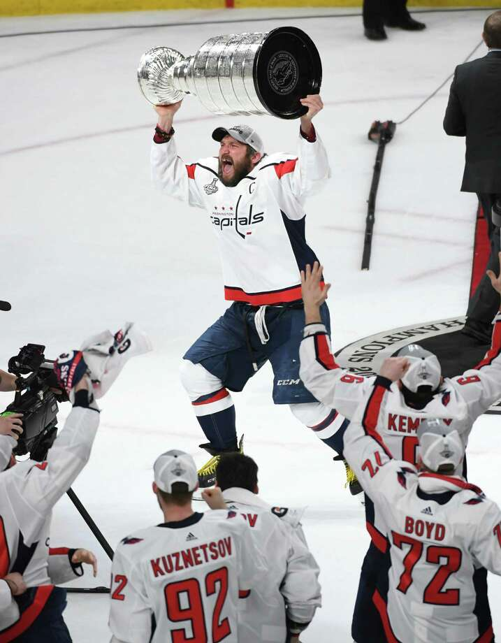 8b44568d962 Alex Ovechkin hoists the Stanley Cup after the Capitals 4-3 victory over  the Vegas