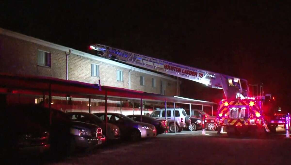 Houston firefighters are investigating an apartment blaze that damaged six units in Memorial on Thursday, June 7, 2018.