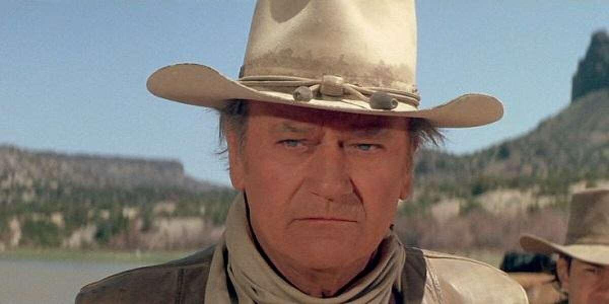 "John Wayne in ""The Cowboys."""