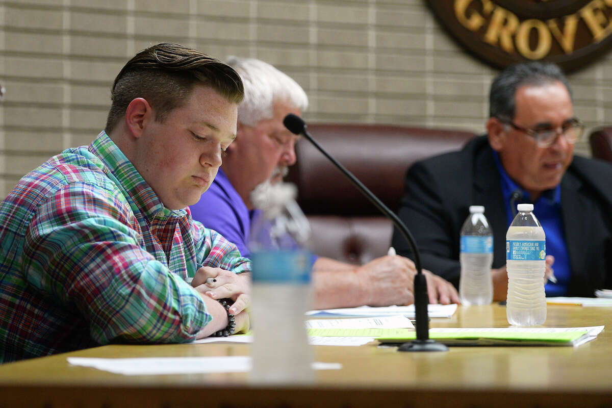 Groves Councilman Cross Coburn is battling an effort to remove him from office for being the victim of revenge porn.