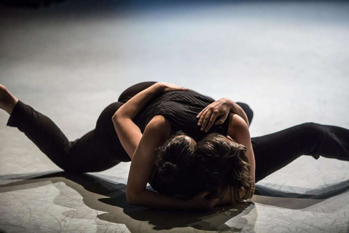 Robyn Gerbaz and Alex Carrington will dance in the premiere of tinypistol�s �kosmos� at ODC Theater. Photo: Stephen Texeira.