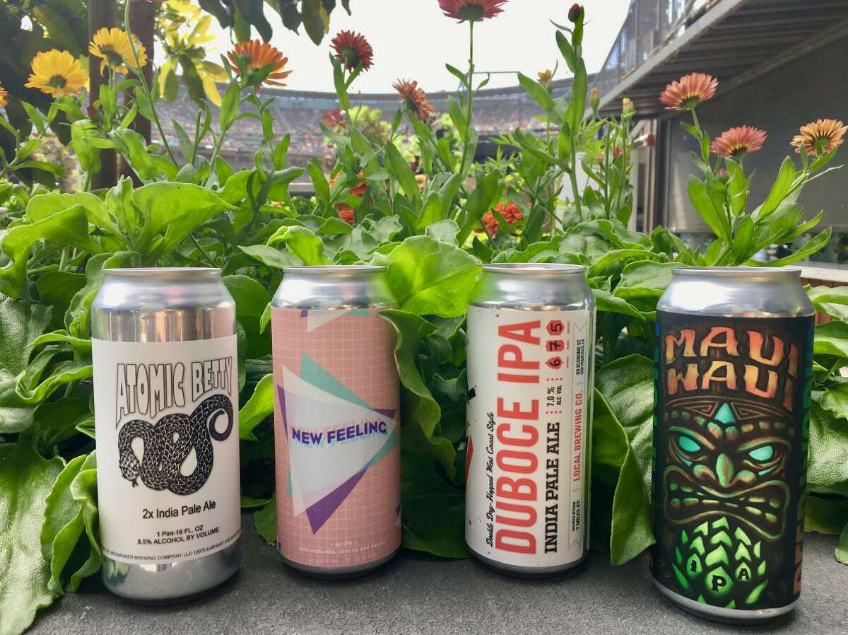 A selection of craft beer cans now available at AT&T Park in San Francisco.