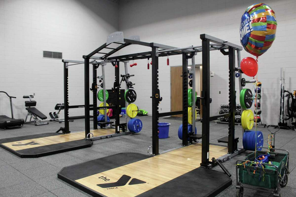 The Matrix Double Mega Rack is the centerpiece of the functional space in the wellness center at theLake Houston Family YMCA, which reopened on June 4 in Kingwood.