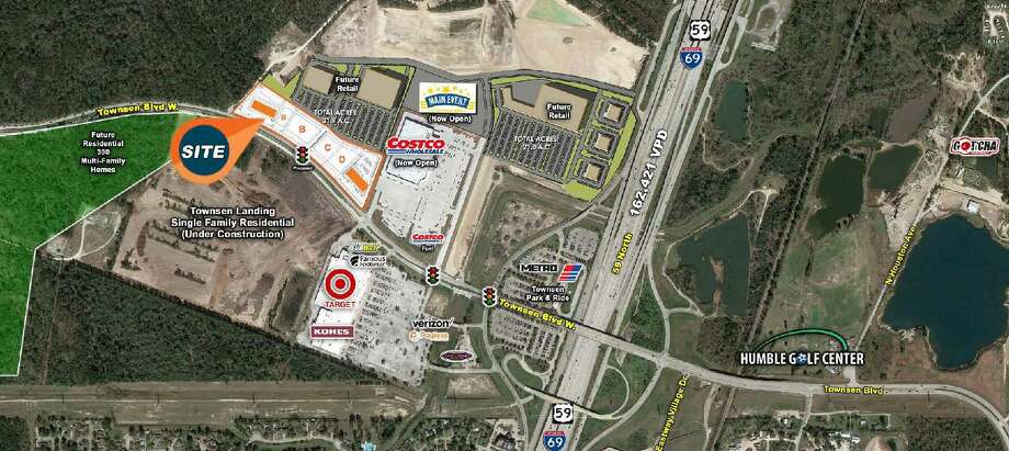 The Townsen Development in Humble is anticipated to open within the first quarter of 2019. The 8 acre commercial development will have two 15,000 square feet shopping centers and the roads will be expanded into four lanes to ease traffic. Photo: Courtesy Hunington Properties, Inc.