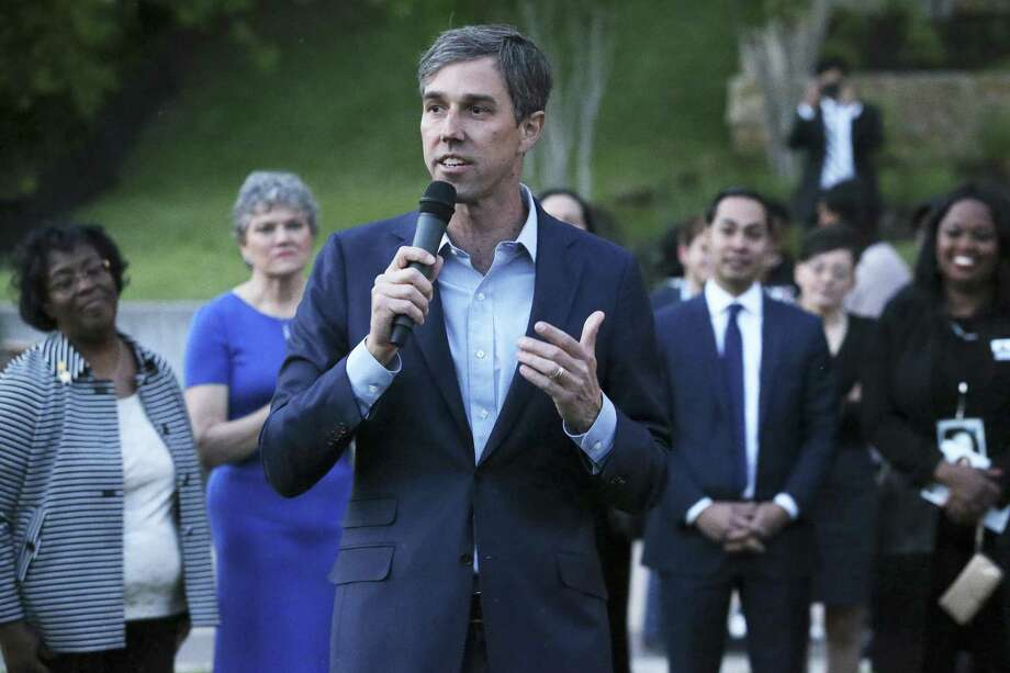 Beto O'Rourke speaks as Democratic statewide hopefuls gather at the Sheraton Austin at the Capitol to speak at the Blue Wave Summit Fundraising reception on April 14, 2018. Photo: Tom Reel, Staff / San Antonio Express-News / 2017 SAN ANTONIO EXPRESS-NEWS