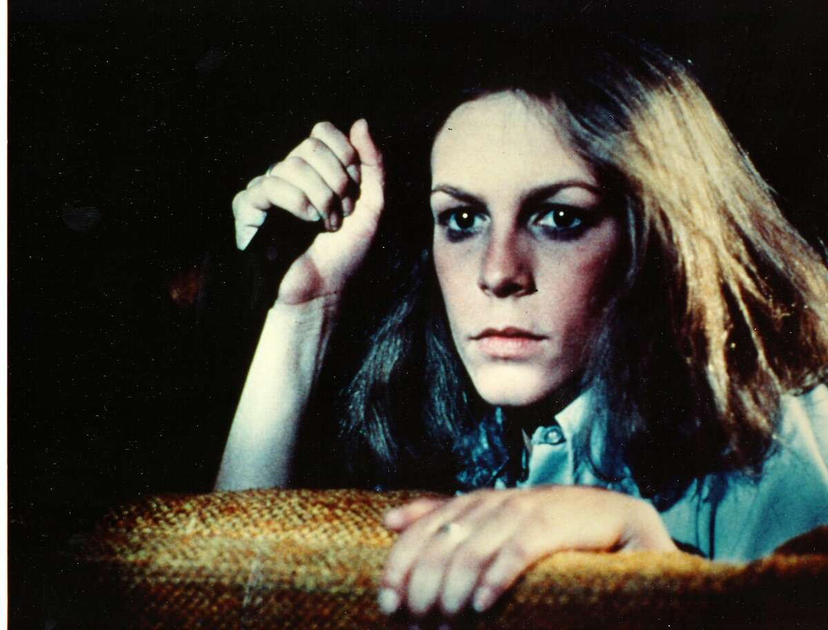 """""""Halloween"""" (1978) Little Man rating: Sitting Man Despite the Sitting Man rating for this all-time horror classic, the John L. Wasserman's cringe-worthy review sounds more like an Empty Chair. The headline alone, """"Breasts are the clue,"""" merits looking away, along with this line about """"Halloween"""" producer Debra Hill: """"It proves that the mere genetic fact of womanhood does not necessarily yield any more class than that exhibited by your standard run-of-the-mill disgusting male."""" Of the movie, staring Jamie Lee Curtis, Wasserman says this: """"As long as a young woman's breasts are not exposed, you can relax."""""""