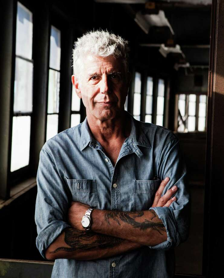 """Anthony Bourdain on Pier 57 in New York where he was planning to open Bourdain Market, Sept. 20, 2015.  Bourdain, a travel host whose memoir """"Kitchen Confidential"""" about the dark corners of New York's restaurants started a career in television, died on Friday, June 8, 2018. He was 61. (Alex Welsh/The New York Times) Photo: ALEX WELSH, STR / NYT / NYTNS"""
