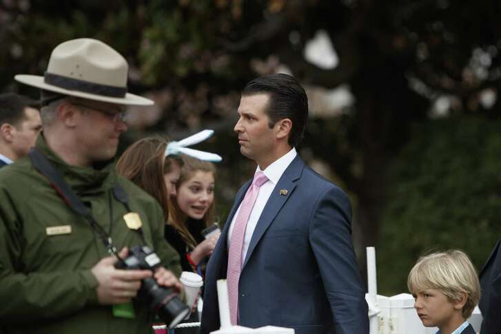 The administration claimed the president didn't dictate a statement that falsely claimed a meeting between Donald Trump Jr. (shown at the Easter Egg Roll) and Russians was about adoptions. The president's lawyers now concede he dictated it. That's a lie — in furtherance of a cover-up.