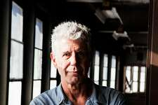 Anthony Bourdain on Pier 57 in New York where he was planning to open Bourdain Market, Sept. 20, 2015.  Bourdain, a travel host whose memoir �Kitchen Confidential� about the dark corners of New York�s restaurants started a career in television, died on Friday, June 8, 2018. He was 61. (Alex Welsh/The New York Times)