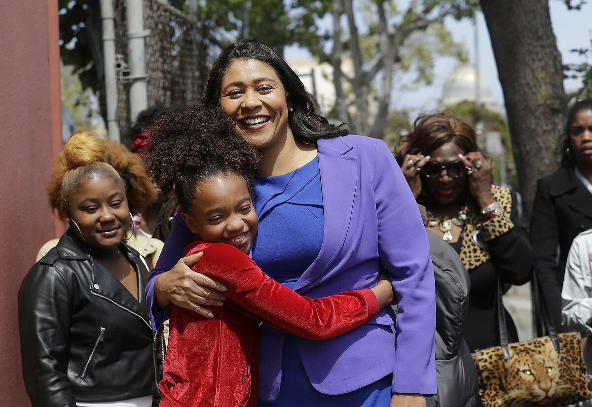 Board of Supervisors President London Breed greets supporters on Wednesday, June 6, 2018.Breed pulled ahead of former state Sen. Mark Leno on Saturday by just 498 votes.