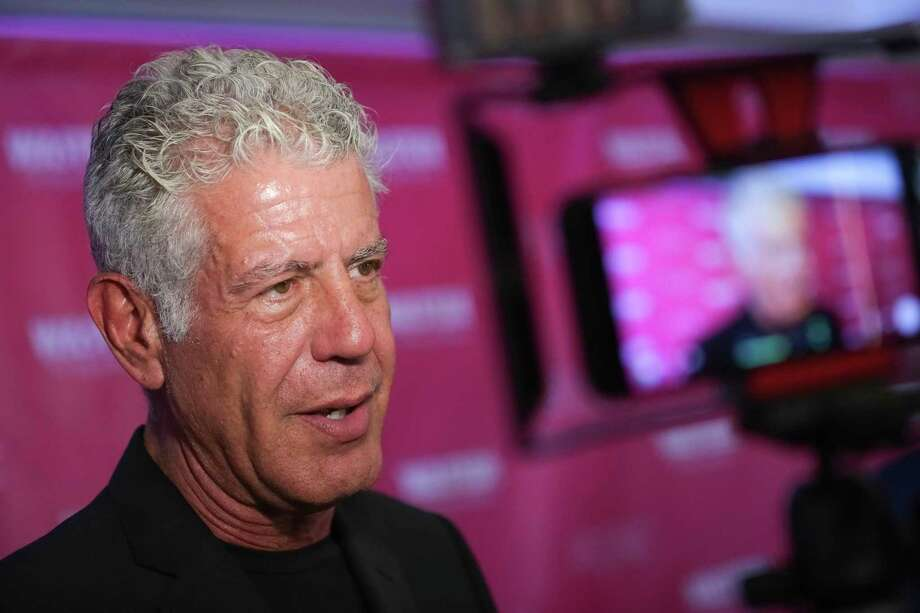 "FILE - In this Oct. 5, 2017 file photo, Executive Producer and narrator chef Anthony Bourdain attends the premiere of ""Wasted! The Story of Food Waste"" at the Alamo Drafthouse Cinema in New York.  Bourdain has been found dead in his hotel room in France, Friday, June 8, 2018,  while working on his CNN series on culinary traditions around the world. (Photo by Brent N. Clarke/Invision/AP, File) Photo: Brent N. Clarke / 2017 Invision"