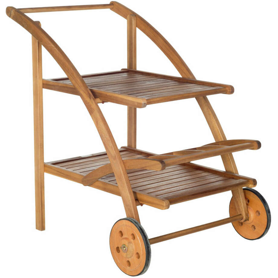 Hitting the Minibar Outdoor Wood Bar Cart, $279 Get ready to party with this portable outdoor bar cart. Wheels enable quick repositioning of food and bevies in even the tightest space. Photo: Courtesy Of West Elm