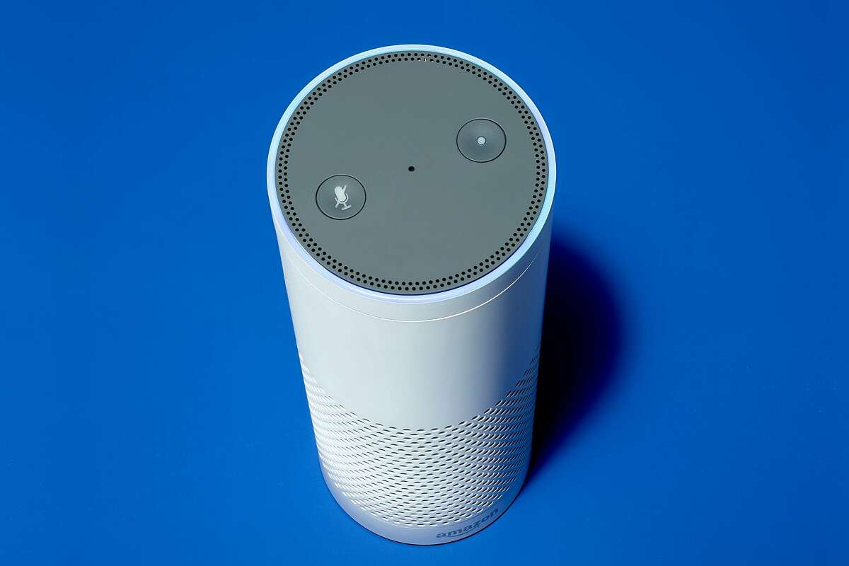 An Amazon Echo speaker. For weeks, users of Amazon�s digital assistant, Alexa, have reported versions of the same unsettling event: being startled as they went about their day by Alexa letting out an eerie laugh. (Jens Mortensen/The New York Times)