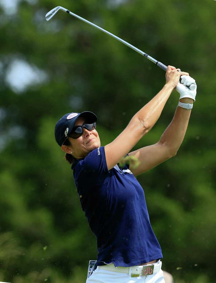 GALLOWAY, NJ - JUNE 08: Laura Diaz hits her tee shot on the 11th hole during the first round of the ShopRite LPGA Classic Presented by Acer on the Bay Course at Stockton Seaview Hotel and Golf Club on June 8, 2018 in Galloway, New Jersey. Photo: Michael Cohen, Getty / 2018 Getty Images