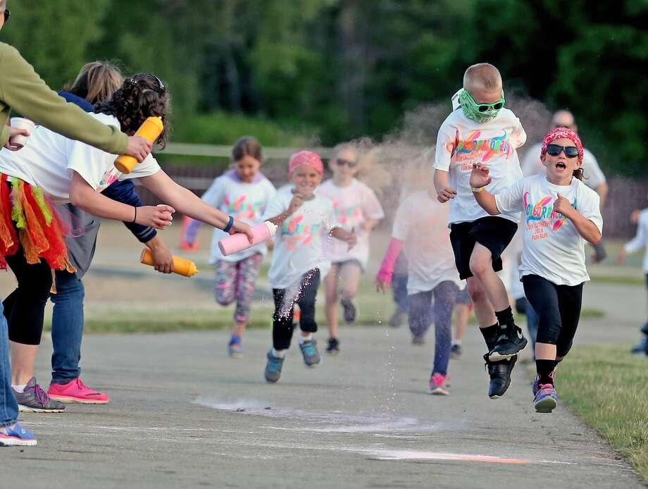 Colorpalooza Family Fun Run Photo: Paul P. Adams/Huron Daily Tribune