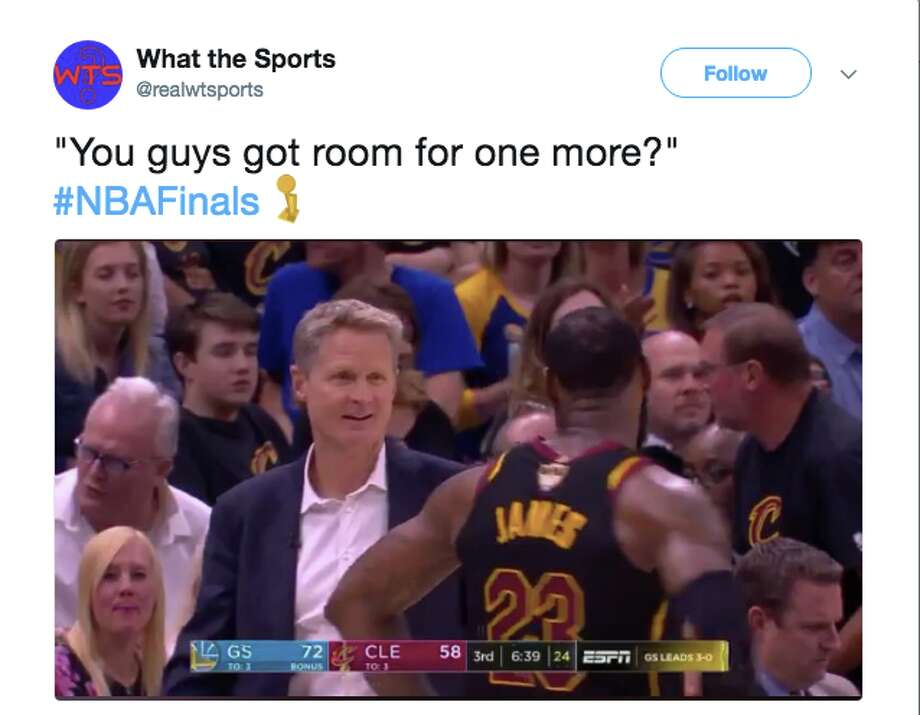 The best memes from Game 4 of the NBA Finals. Photo: Twitter