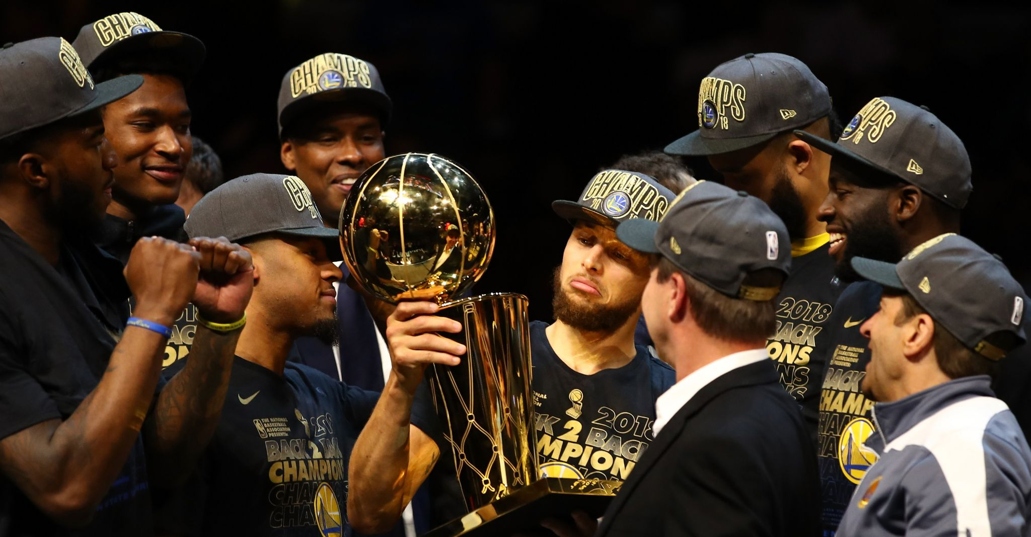 3df8dbc5922 Dub Dynasty  Warriors sweep Cavaliers for second straight title ...