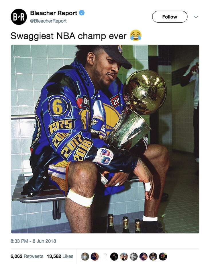 bee693ceeb7 Twitter was loving Nick Young s first NBA championship with the Golden  State Warriors. Photo