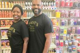 Today's Beauty Supply retail store owner Ben Golley stands with his sister, Angela (Golley) Grubb, at the store she helps him operate. Grubb is the day-to-day face of the retail store, though Golley is there almost daily.