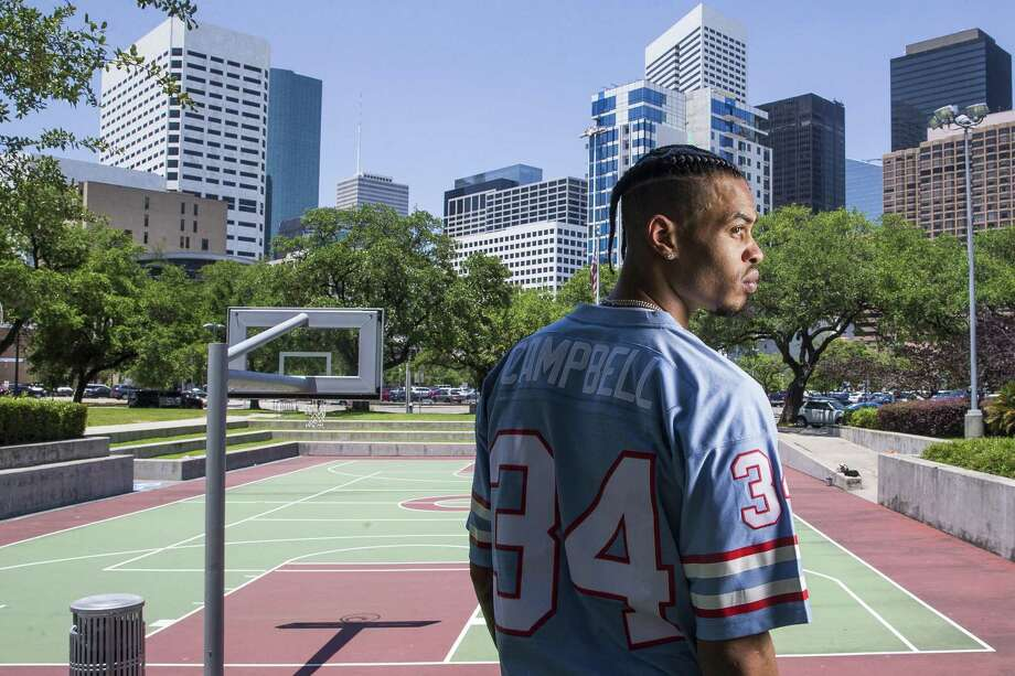 Houston Rockets guard Gerald Green says he's no GQ guy, but his still is all Houston, with his throwback jerseys, braided hair and tattoos of icon Houston symbols. Photo: Michael Ciaglo, Houston Chronicle / Houston Chronicle / Michael Ciaglo