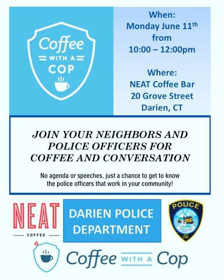 Coffee with a Cop in Darien, Conn., will be on Monday, June 11, 2018. Photo: Contributed Photo / Darien Police Department