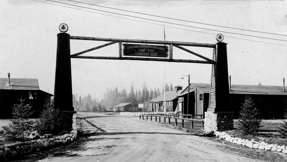 The over 80-year-old entrance to the Civilian Conservation Corps (CCC) Speculator Camp S-90 will greet visitors to the 85th anniversary of the CCC on Saturday, June 23. The camp has been restored and is Camp Sagamore a summer youth camp. (Photo: Art Conduzio)