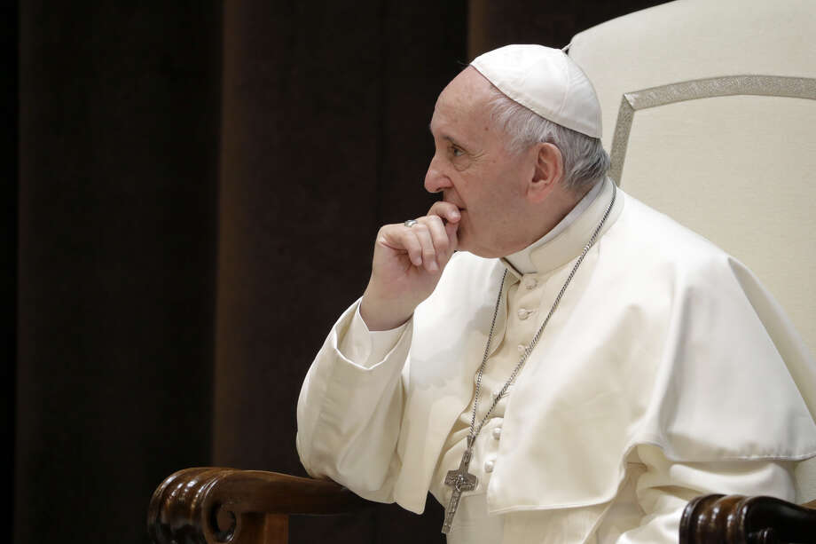 Pope Francis met with oil executives on Saturday. Photo: AP Photo/Andrew Medichini