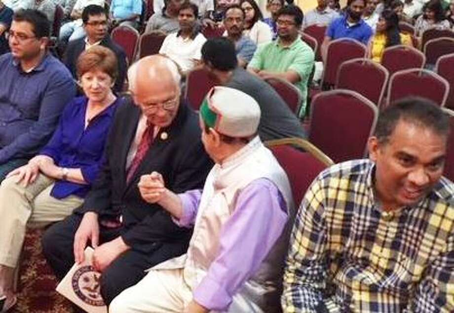 Albany Mayor Kathy Sheehan and US Rep Paul Tonko met with members of the Indian community to discuss immigration issues