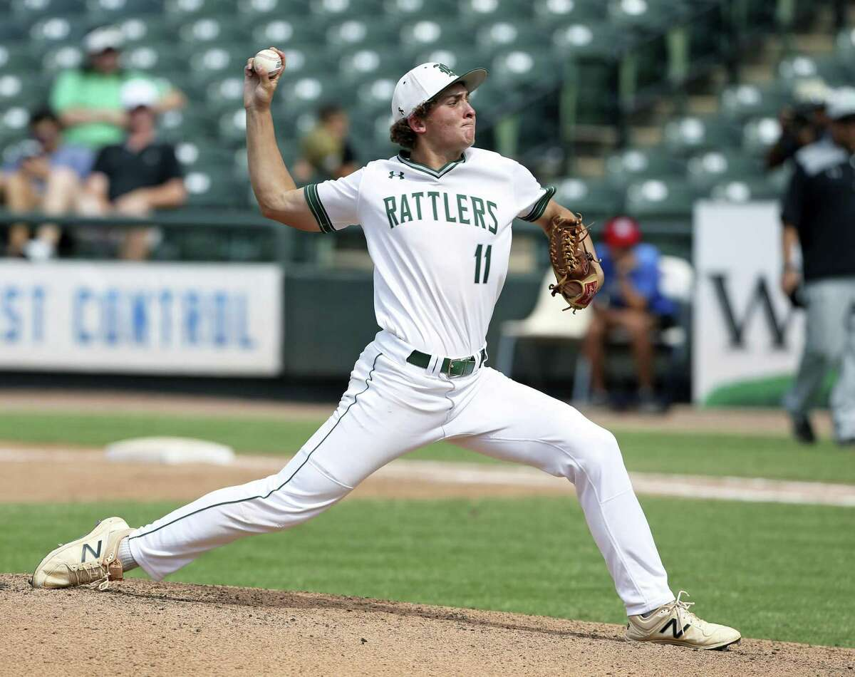Texas commit Travis Sthele, a pitcher and shortstop, is one of four starters back from Reagan's team that reached the state final in 2018, where it lost 7-2 to Southlake Carroll at Dell Diamond.