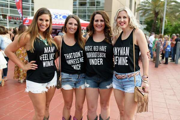 Fans at the Toyota Center to see Shania Twain in concert in Downtown Houston on Saturday June 9, 2018