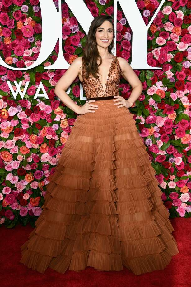 Best: Sara Bareilles's dress looks like a fluffy, decadent piece of tiramisu cake.  Photo: Dimitrios Kambouris/Getty Images For Tony Awards Productions