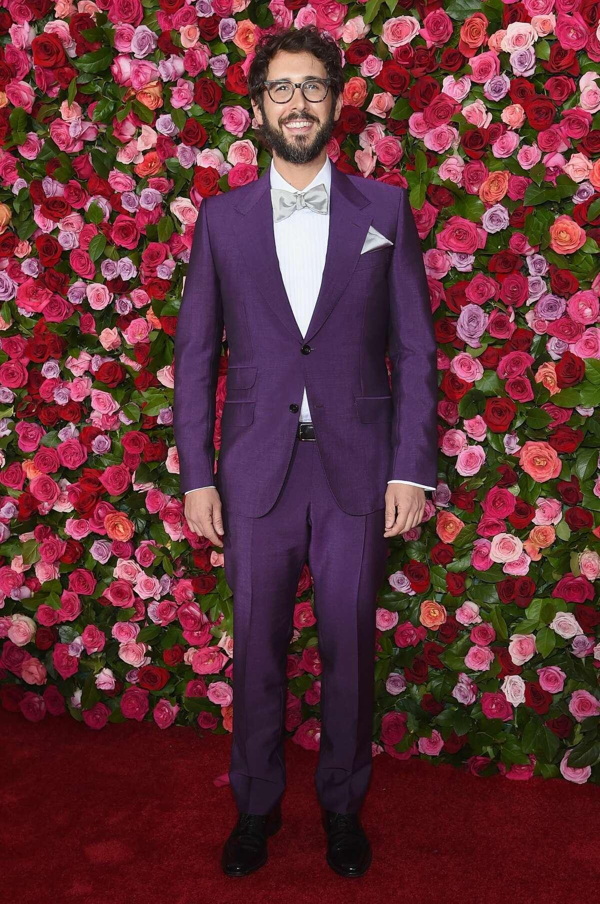 Best: Josh Groban is beaming like a gem in this beautiful purple suit.