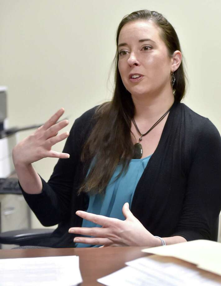 """New Haven, Connecticut - June 5, 2018: Alison E. Wall, assistant professor in the Southern Connecticut State University School of Business, Department of Management, discusses  a co-authored study, """"Pay Openness Movement:  Is it merited"""" -  Does it influence more desirable employee outcomes than pay secrecy, about how companies that exercise transparency around pay tend to produce healthier workplace environments and have more productive employees. Photo: Peter Hvizdak / Hearst Connecticut Media / New Haven Register"""