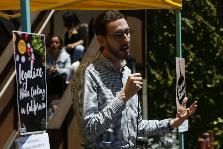 State Senator Scott Wiener spoke at a rally in support of Assembly Bill 626, the 2018 Homemade Food Operations Act. at the Forage Kitchen Sunday, June 10, 2018 in San Francisco, Calif.