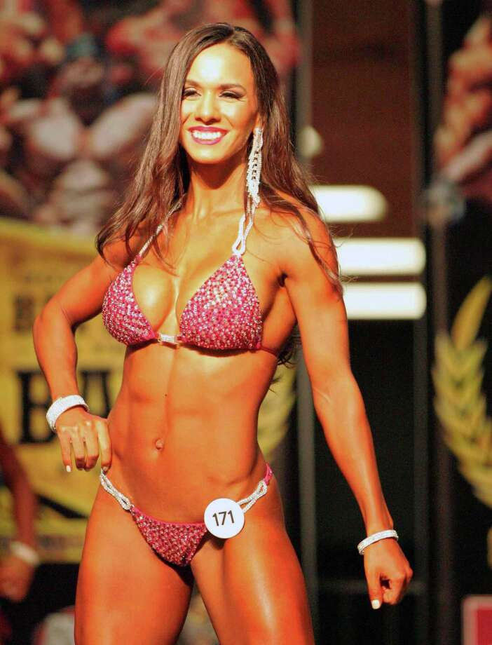 "Carolina Dominguez is one of several Laredoans set to compete in the 2018 NPC ""Battle on the Bay Fit Expo"" on Saturday July 14 at the American Bank Center in Corpus Christi. Photo: Clara Sandoval /Laredo Morning Times"
