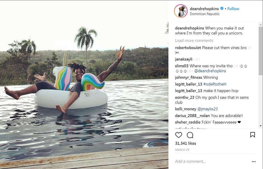 PHOTOS: How Texans players spent their offseason this year Houston Texans receiver DeAndre Hopkins spent some time in the Dominican Republic this offseason. Photo: Instagram