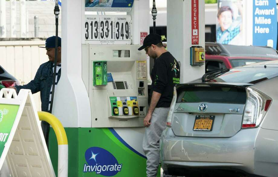 Gasoline prices in the greater Bridgeport area have fallen 0.4 cents per gallon in the past week, averaging $3.14 a gallon for regular gas on Sunday, according to GasBuddy's daily survey of 96 stations. This compares with the national average that has fallen 3.1 cents per gallon versus last week to $2.91 a gallon. Photo: DON EMMERT / AFP /Getty Images / AFP or licensors