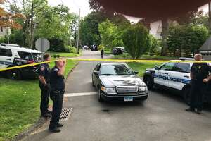 A call for a woman with blood all over her who was not breathing, had police and medics swarming into Stamford's Ridgeway neighborhood on Monday, June 11, 2018.