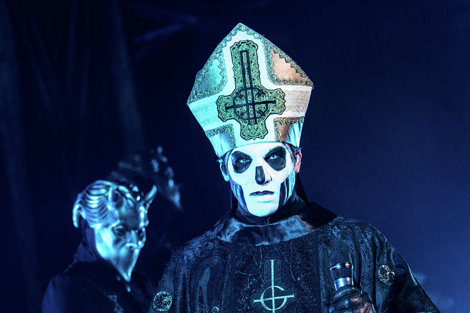 "Ghost, Dec. 13, Palace Theatre. Decked-out Swedes on ""A Pale Tour Named Death.""  Photo: Trudi Shaffer Hargis/Times Union"