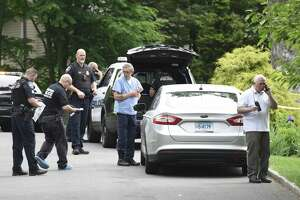 Police investigate an untimely death inside a home on Hycliff Terrace in Stamford, Conn. Monday, June 11, 2018.