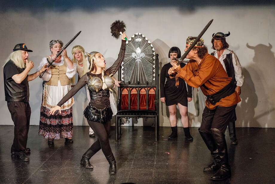 """""""The Merry Niibelungs"""" is a parody in cabaret format. Photo: Ross Halper"""
