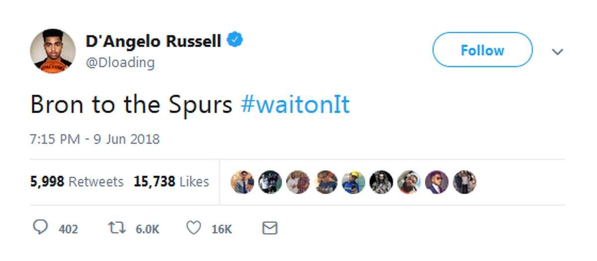 June 9: Brooklyn Nets' D'Angelo Russel promises
