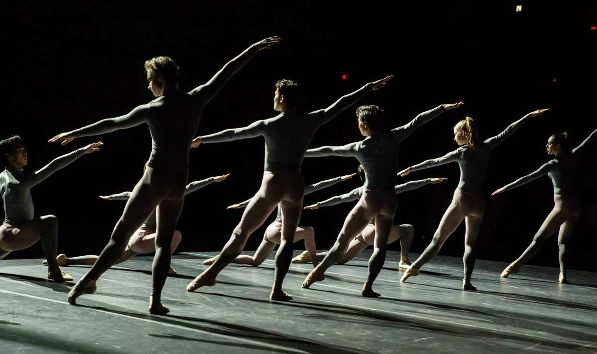 """Artists of Houston Ballet in """"What we keep,"""" by Oliver Halkowich, Melody Mennite and Connor Walsh."""