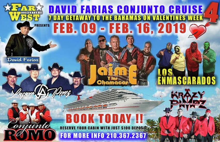 David Farias Conjunto Cruise Organizer Rudy Lopez shared photos showing a preview of the Feb.9-16 trip.