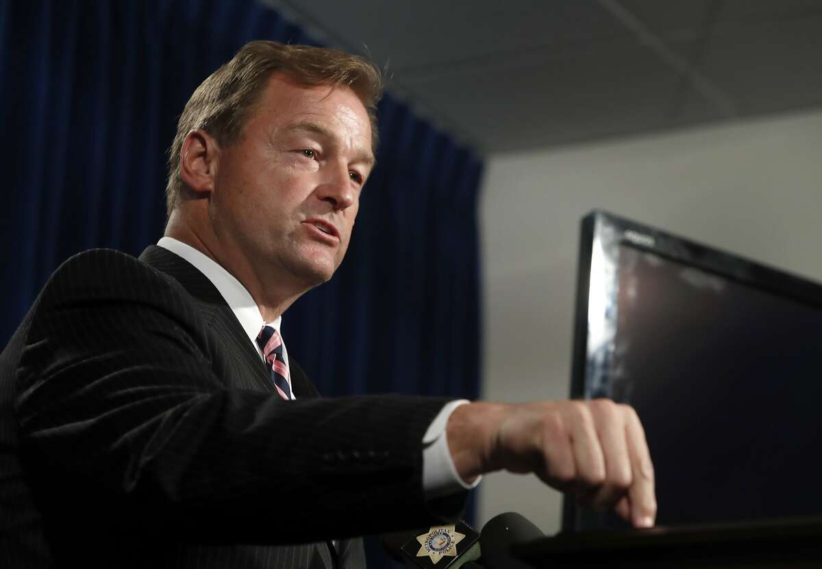 FILE - In this Oct. 4, 2017, file photo, Sen. Dean Heller, R-Nev, speaks during a media briefing at Metro Police headquarters in Las Vegas. All eyes are on Republican Heller's re-election bid but hanging on to a pair of Democratic U.S. House seats that will be up for grabs in Nevada in November could be key to the party's effort to cut into GOP control of Congress next year. (Steve Marcus/Las Vegas Sun via AP, file)